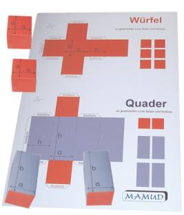 Bastelbögen Würfel - Quader