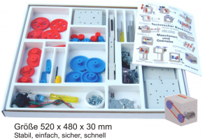 Technischer Baukasten - Maschinen und Getriebe - im Karton mit Deckel