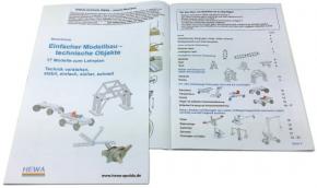 Anleitungsheft zum Baukasten Einfacher Modellbau - technische Objekte