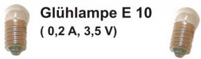 Glühlampe E 10 (0,2 A; 3,5 V) - 10 Stück