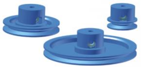 Riemenrad mit Bund, fest oder lose - Durchmesser 20 mm