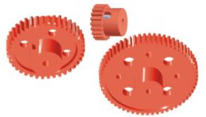Zahnrad mit Bund, fest oder lose auf Achse - 20 Zähne mit Bund, Durchmesser 20 mm